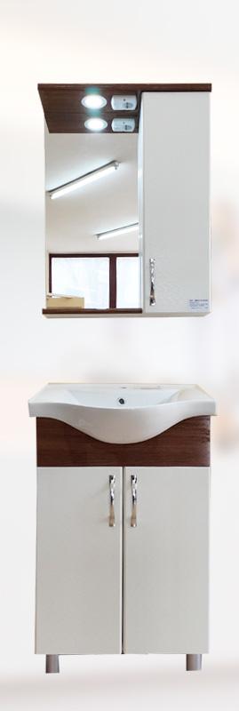 BRN-BA-1 Шкаф за баня с мивка 55см