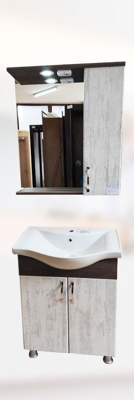 BRN-BA-4 шкаф за баня с мивка 65см